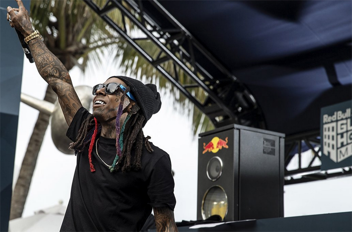 Lil Wayne Hits Red Bull Guest House Pool Party