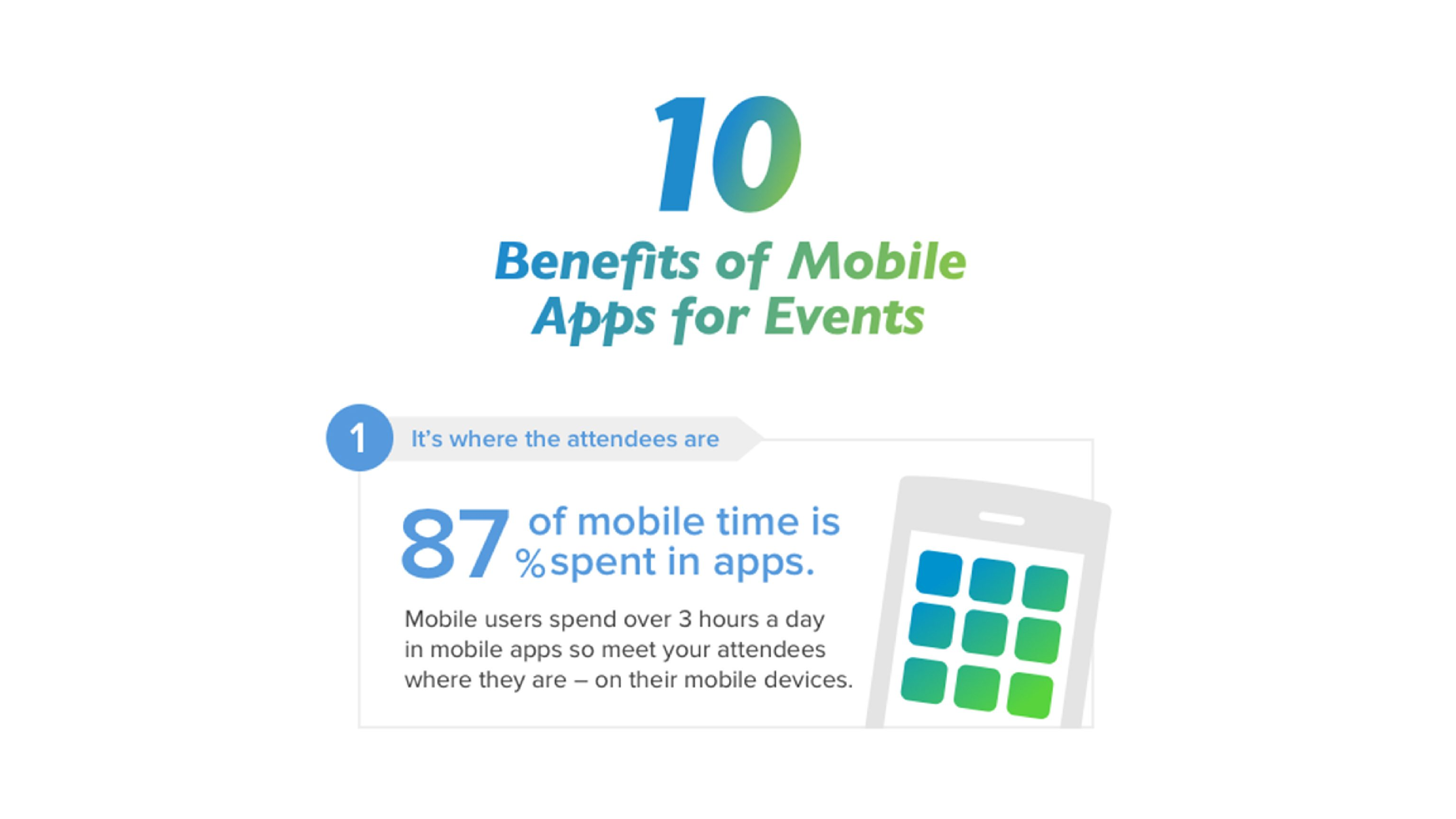 10 Benefits of Mobile Phone Apps for Events [Infographic]